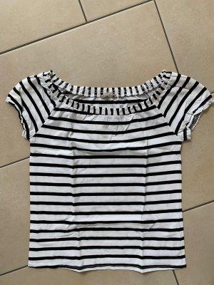 Orsay Camisa de un solo hombro negro-blanco