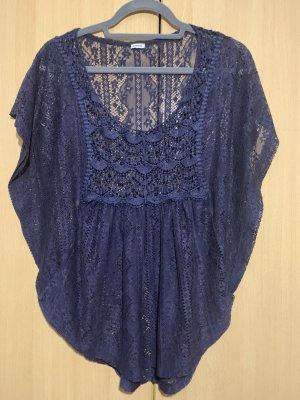 Pimkie Camisa de ganchillo azul oscuro