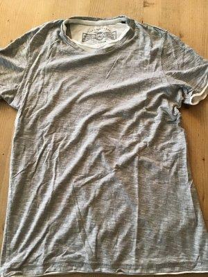 Shirt Gr. M grau-weiß