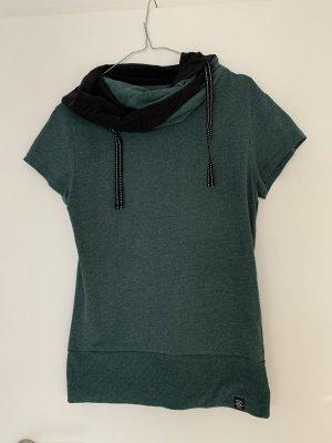 Shirt gr xl grün mit Fallkragen