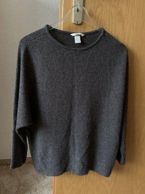 Shirt grau 36/S Damen Pulli H&M Basic Fashion