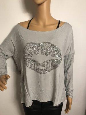 Camicia oversize grigio chiaro
