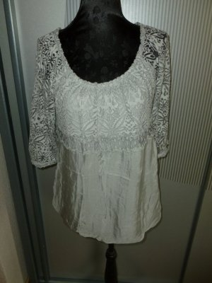 Made in Italy Kanten blouse grijs