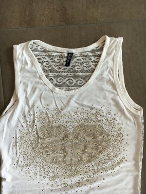 Shirt, Größe M, Colosseum, weiß, Payetten, in Herzform