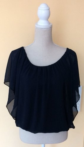 Cowl-Neck Shirt dark blue
