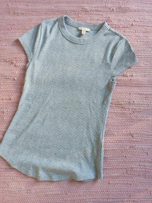 H&M Chemise côtelée gris