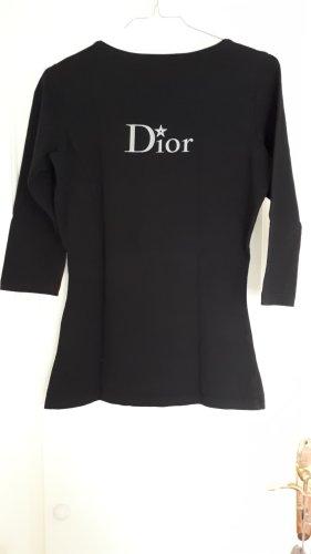 Christian Dior Boothalsshirt zwart-grijs