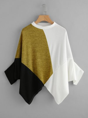 Top extra-large multicolore