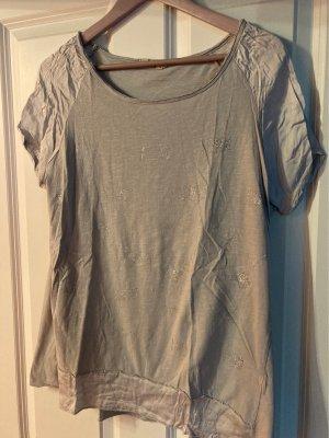 Made in Italy Oversized shirt lichtgrijs-zilver