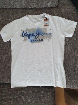 Shirt Herren Größe L von Pepe Jeans in weiß