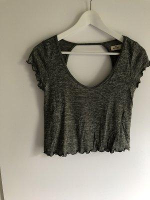 Hollister Cropped shirt groen-grijs