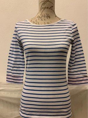 Shirt im Marinelook in blau/weiß mit rosa Ärmeln