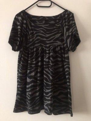 Shirt im Zebralook (schwarz/grau)