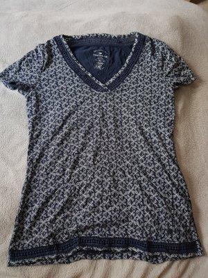 Shirt in blau mit Muster von Tom Tailor