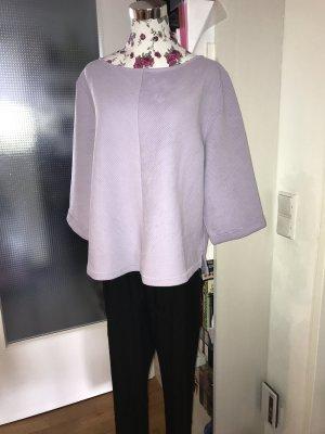 H&M Prążkowana koszulka liliowy Poliester