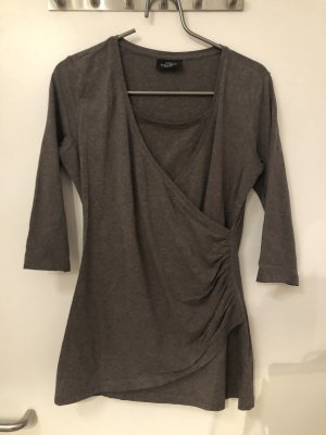 Gina Benotti Cowl-Neck Shirt grey brown