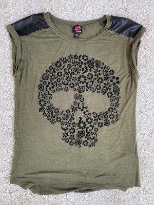2b bebe T-shirt kaki-noir