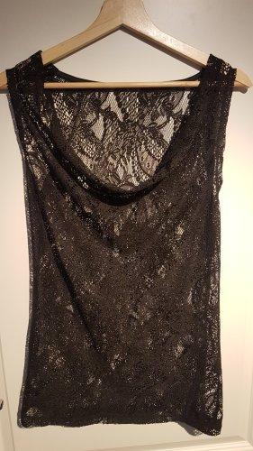 Maglia con scollo a cappuccio nero