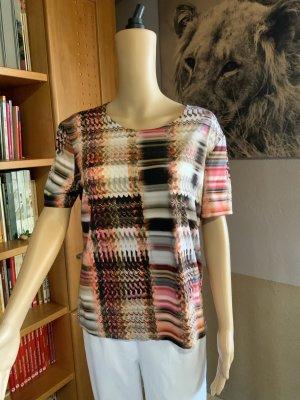 Shirt in Korallfarben-/Braun