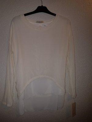Shirt in Lagenlook Lagenotik mit Blusenstoff kombiniert . toller Rückenausschnitt