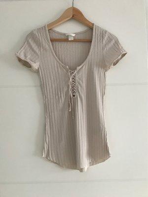 H&M Geribd shirt veelkleurig