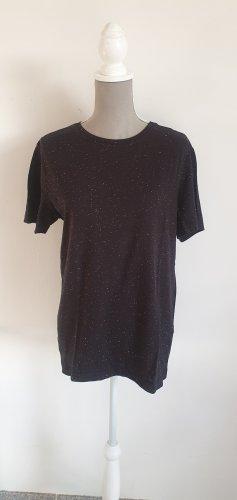 Shirt in schwarz mit weissen Sprenkeln Gr. M