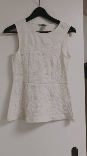 H&M Top taille empire blanc