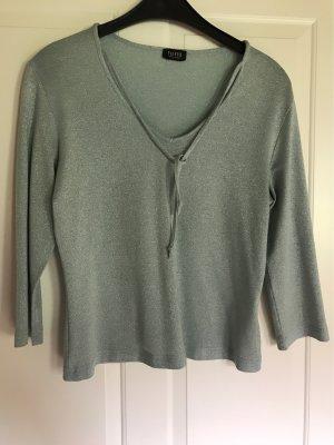 Shirt in Türkis-Silber-schimmernd von TAIFUN