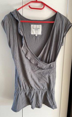 Abercrombie & Fitch Maglietta aderente grigio