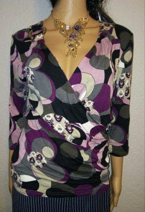 Maglietta aderente multicolore Tessuto misto