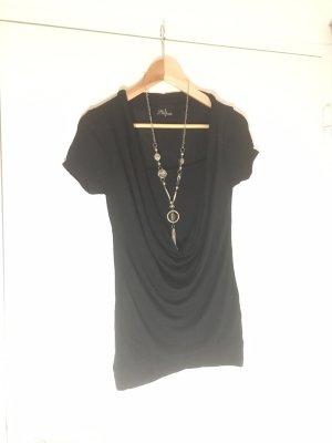 Staccato Koszulka z dekoltem woda czarny