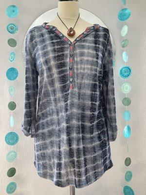 Rockgewitter Batik shirt donkerblauw-wit