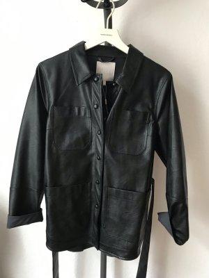Pieces Chaqueta estilo camisa negro