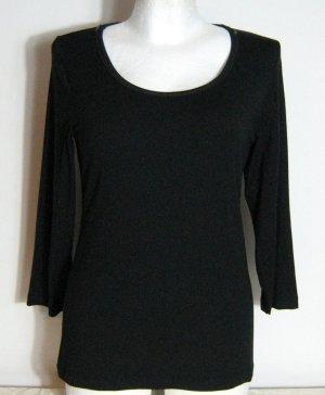 Shirt JOY Größe 40 Schwarz Pailletten Modal Stretch