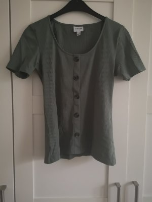 Vero Moda Aware Prążkowana koszulka zielony-khaki