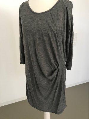 Vero Moda Vestido estilo camisa gris-gris oscuro Algodón