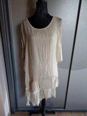 Shirt Kleid beige Made in Italy