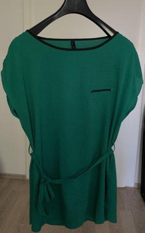 Vero Moda Vestido estilo camisa verde bosque-negro