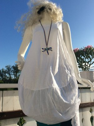 Made in Italy Robe t-shirt blanc