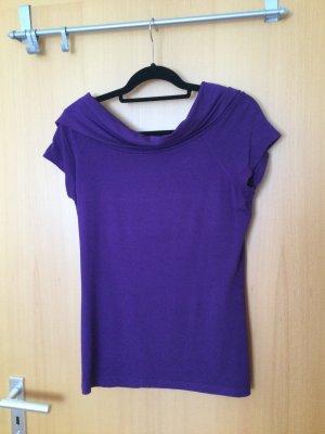 Street One Camisa con cuello caído violeta azulado