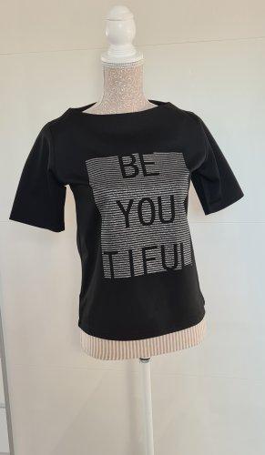 Shirt kurzarm - schwarz - Glitzeraufdruck - neu - Größe 36 S