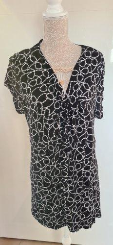 Shirt kurzarm - schwarz/weiß - Größe XXL - neu - Stretch