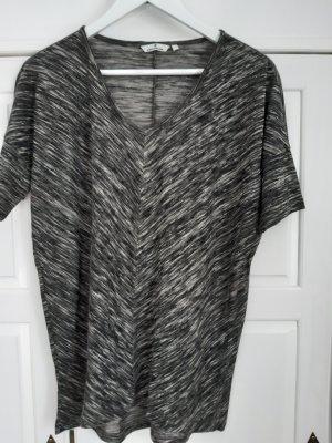 Shirt, Kurzarm v. Tom Tailer, V-Ausschnitt, grau meliert in L