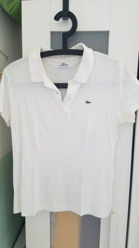Lacoste T-shirt bianco sporco Tessuto misto