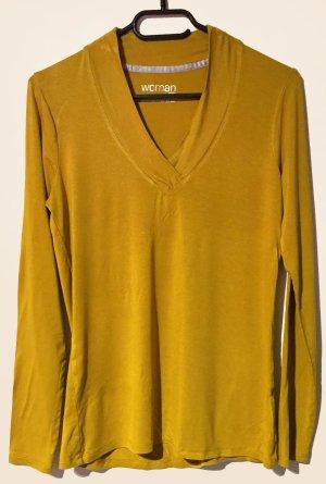 Shirt, langärmlig, V-Ausschnitt