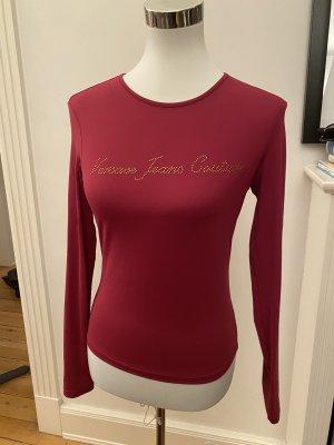 Shirt Langarm Dunkel Rot Gold S