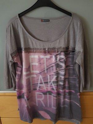 Shirt Langarm Grau Rosa