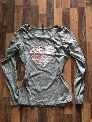Fresh made Koszulka z długim rękawem khaki