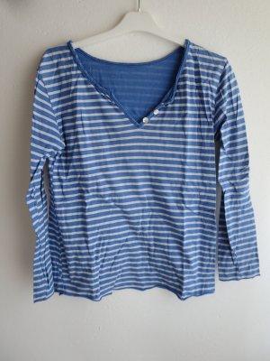 Made in Italy Koszulka w paski niebieski-biały Bawełna