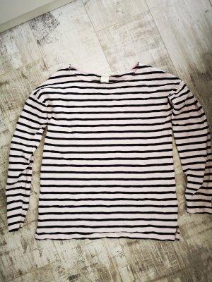 Shirt langarm von H&M Gr.XS rosa schwarz